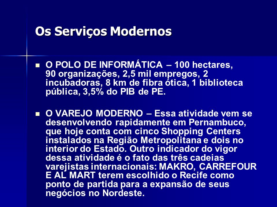 Os Serviços Modernos