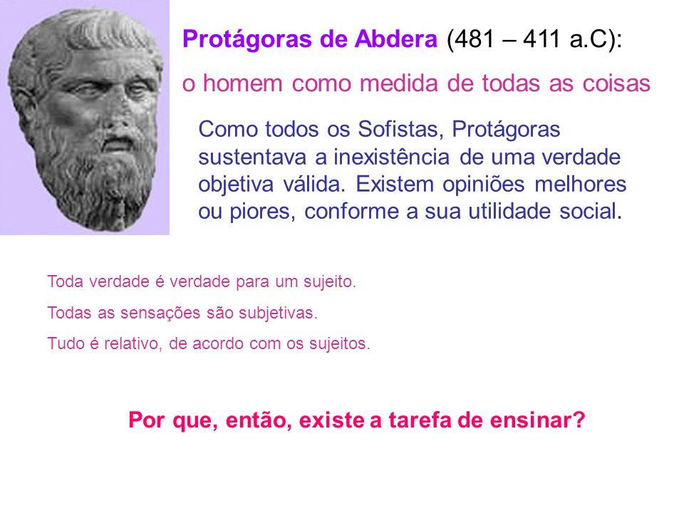 Protágoras de Abdera (481 – 411 a.C):