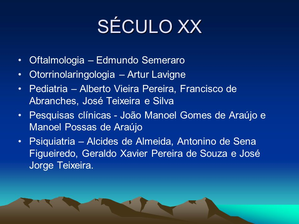 SÉCULO XX Oftalmologia – Edmundo Semeraro