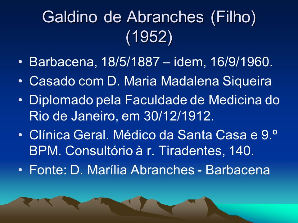 Galdino de Abranches (Filho) (1952)