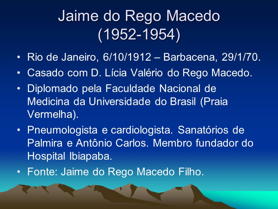 Jaime do Rego Macedo ( )