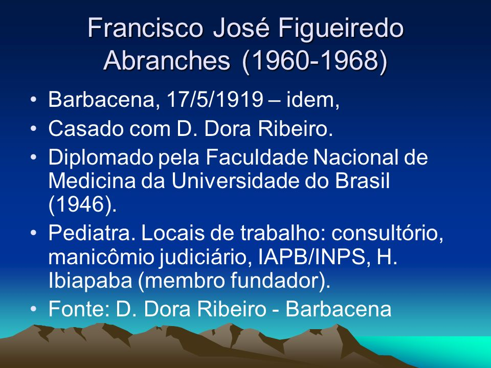 Francisco José Figueiredo Abranches (1960-1968)