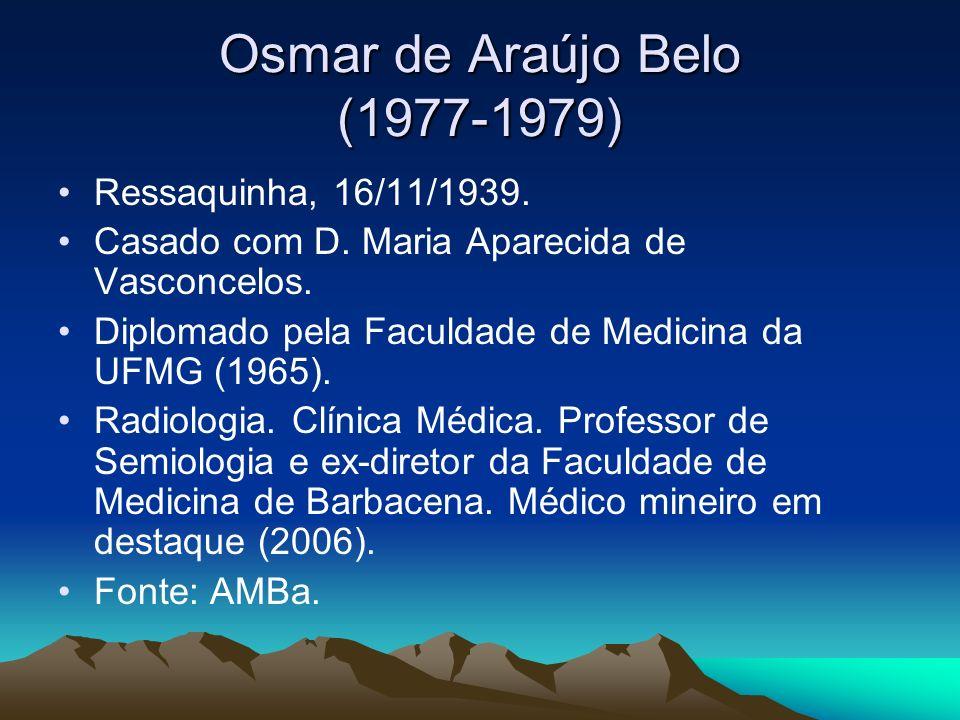 Osmar de Araújo Belo (1977-1979)