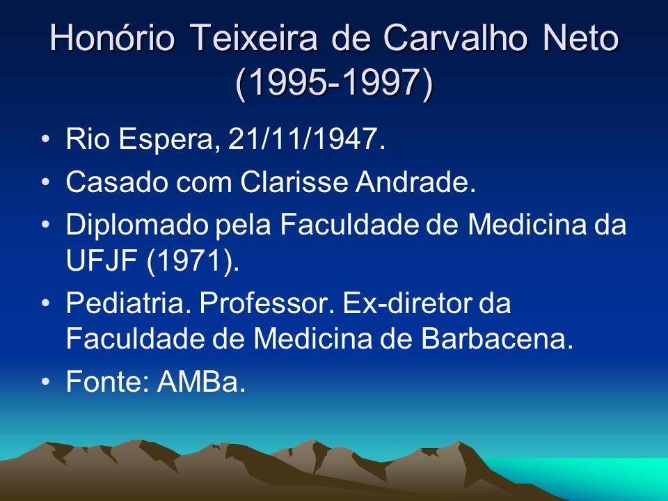 Honório Teixeira de Carvalho Neto (1995-1997)