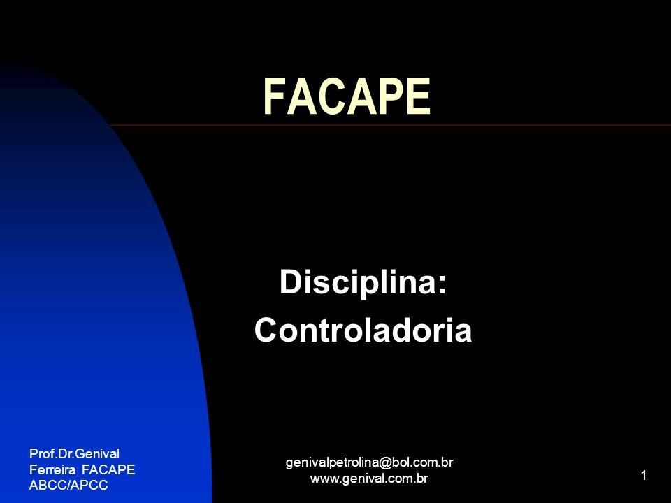 Disciplina: Controladoria