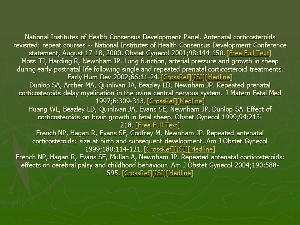 National Institutes of Health Consensus Development Panel