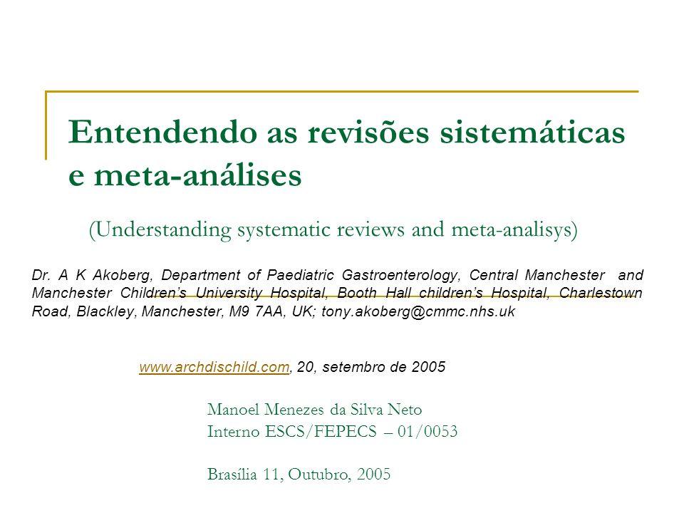 Entendendo as revisões sistemáticas e meta-análises