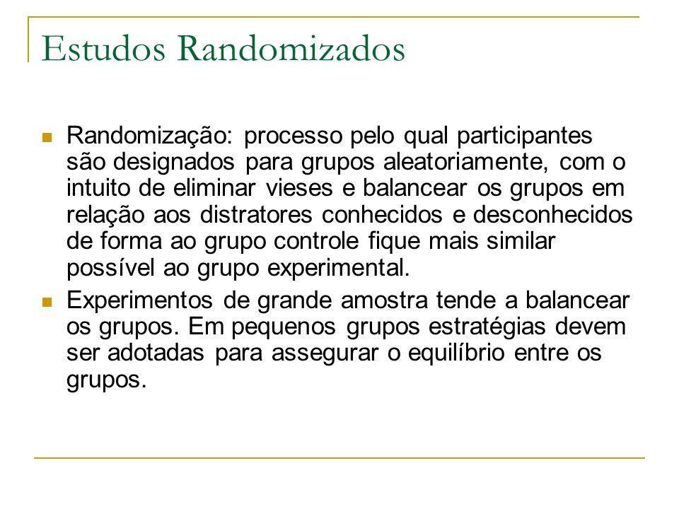 Estudos Randomizados