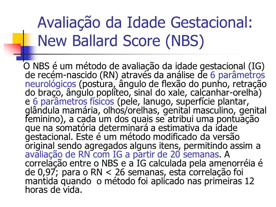 Avaliação da Idade Gestacional: New Ballard Score (NBS)