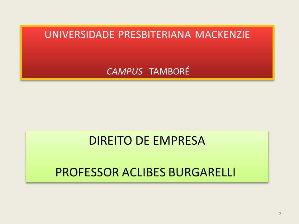 PROFESSOR ACLIBES BURGARELLI