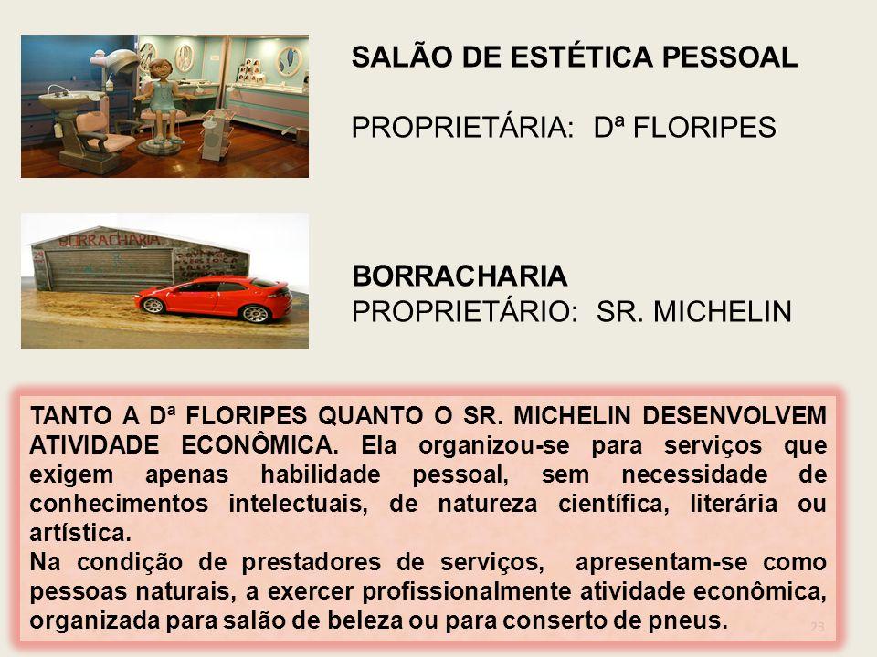 SALÃO DE ESTÉTICA PESSOAL PROPRIETÁRIA: Dª FLORIPES