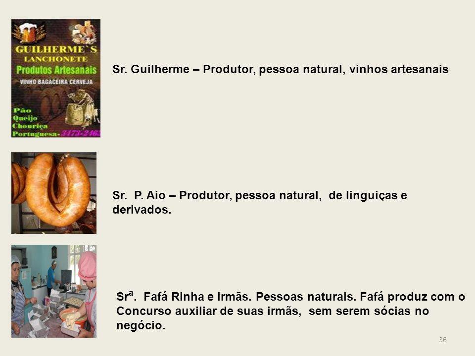 Sr. Guilherme – Produtor, pessoa natural, vinhos artesanais