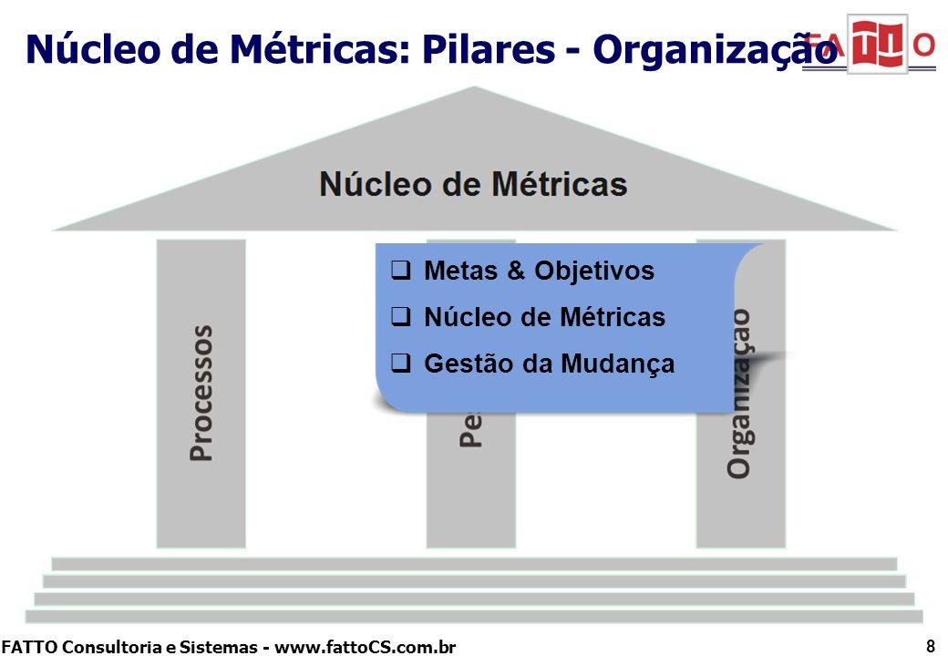 Núcleo de Métricas: Pilares - Organização