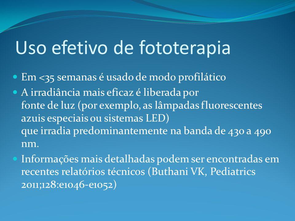 Uso efetivo de fototerapia