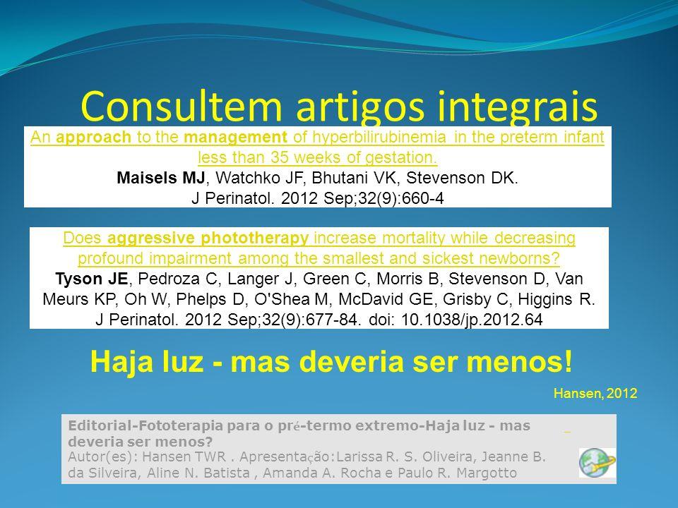 Consultem artigos integrais