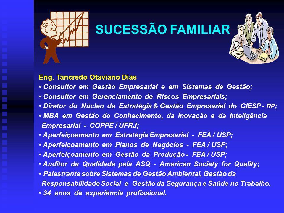 SUCESSÃO FAMILIAR Eng. Tancredo Otaviano Dias