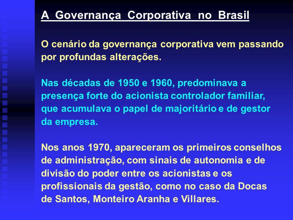 A Governança Corporativa no Brasil