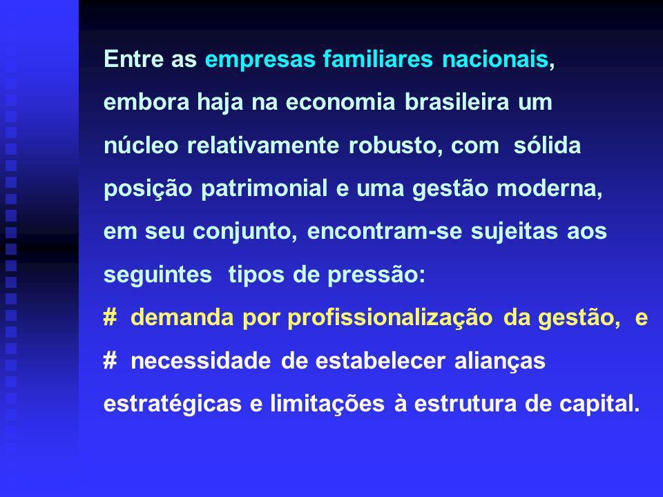 # demanda por profissionalização da gestão, e