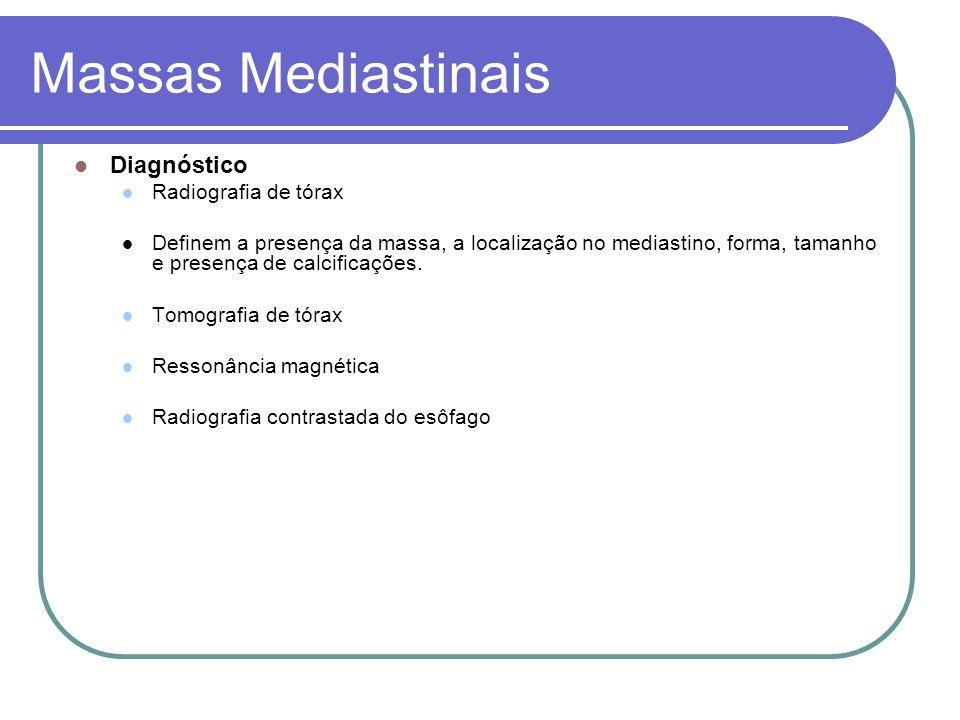 Massas Mediastinais Diagnóstico Radiografia de tórax