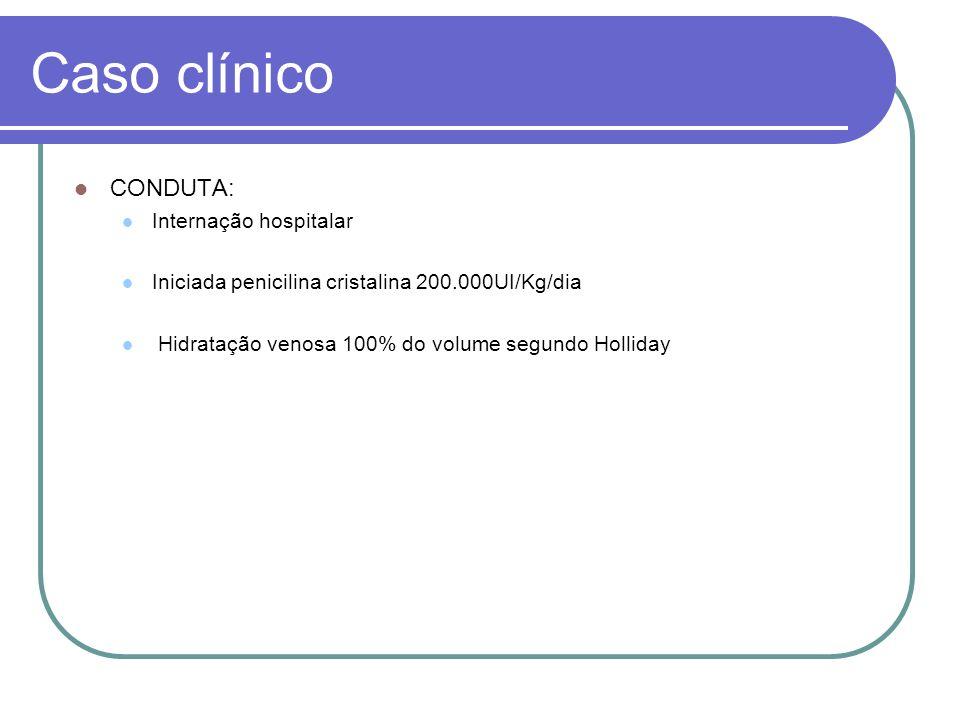 Caso clínico CONDUTA: Internação hospitalar