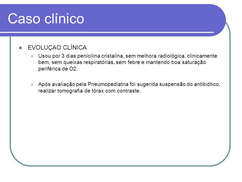 Caso clínico EVOLUÇAO CLÍNICA