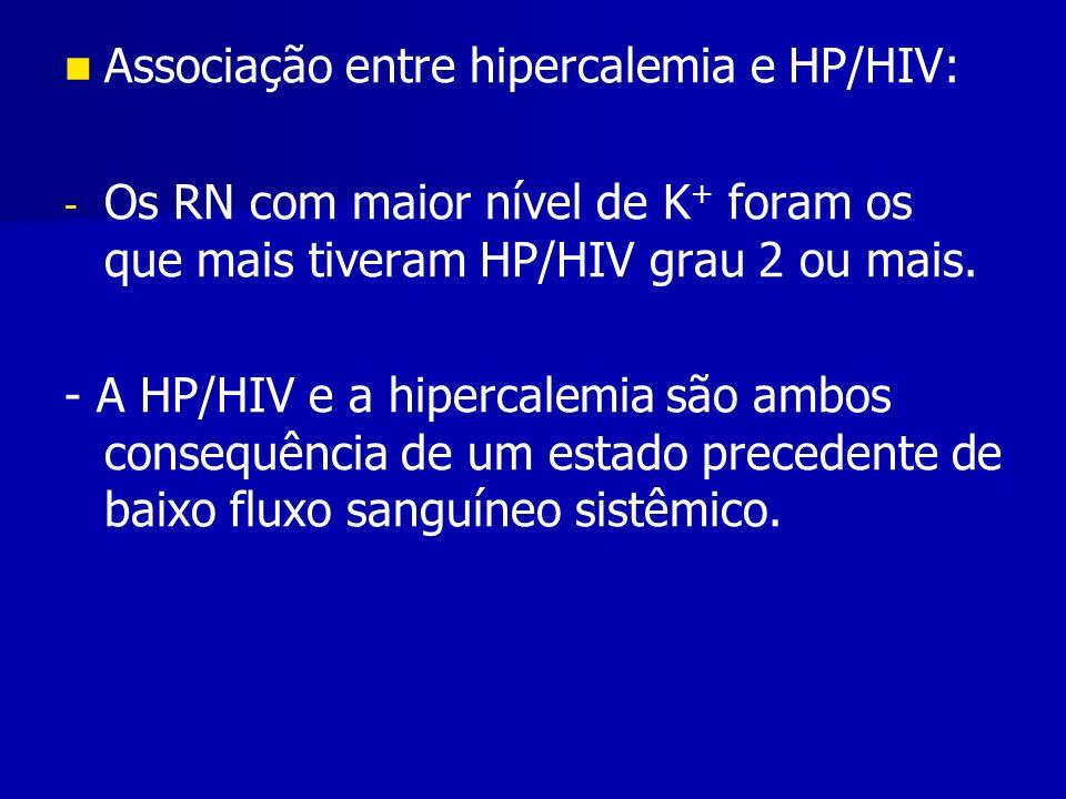 Associação entre hipercalemia e HP/HIV: