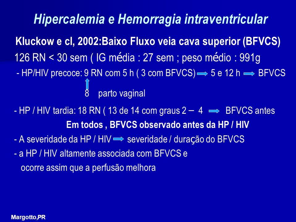 Hipercalemia e Hemorragia intraventricular