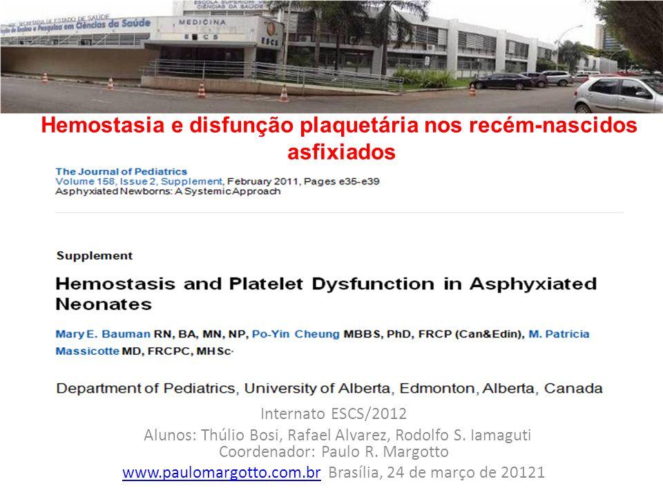 Hemostasia e disfunção plaquetária nos recém-nascidos