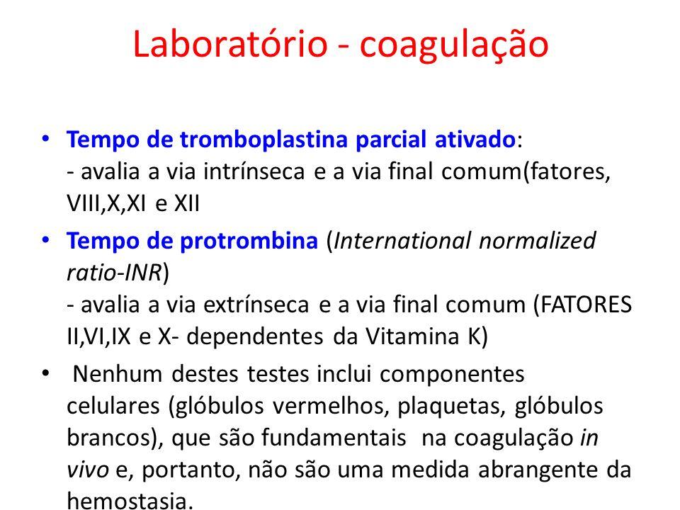 Laboratório - coagulação