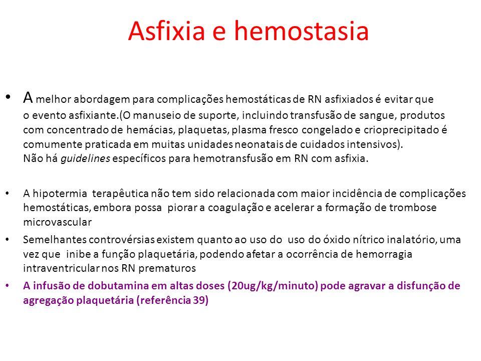 Asfixia e hemostasia