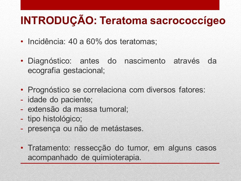 INTRODUÇÃO: Teratoma sacrococcígeo