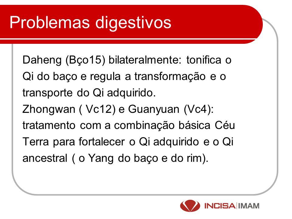 Problemas digestivos Daheng (Bço15) bilateralmente: tonifica o