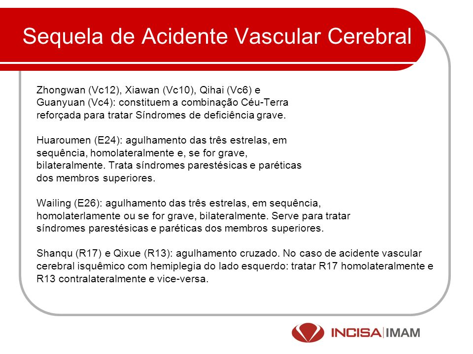 Sequela de Acidente Vascular Cerebral