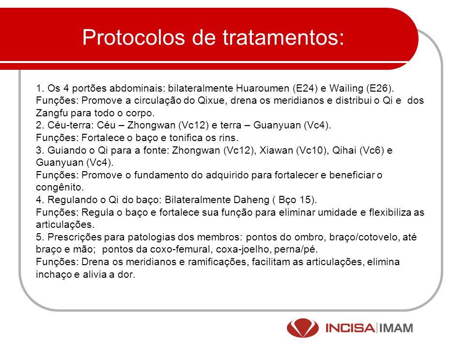 Protocolos de tratamentos: