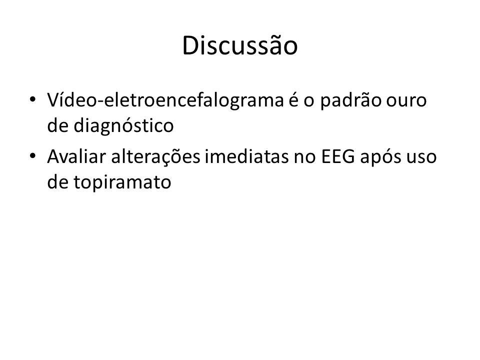 Discussão Vídeo-eletroencefalograma é o padrão ouro de diagnóstico