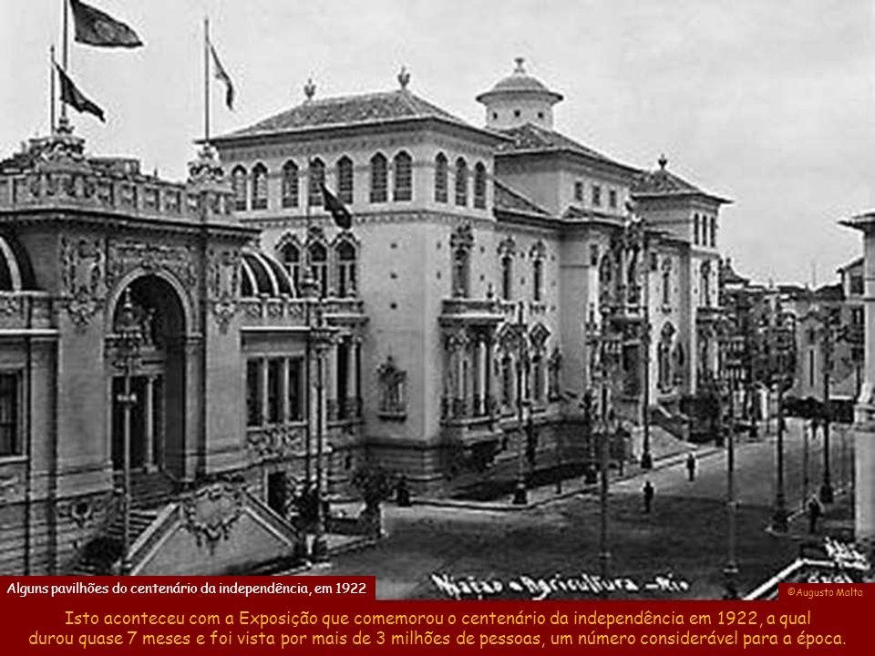 Alguns pavilhões do centenário da independência, em 1922