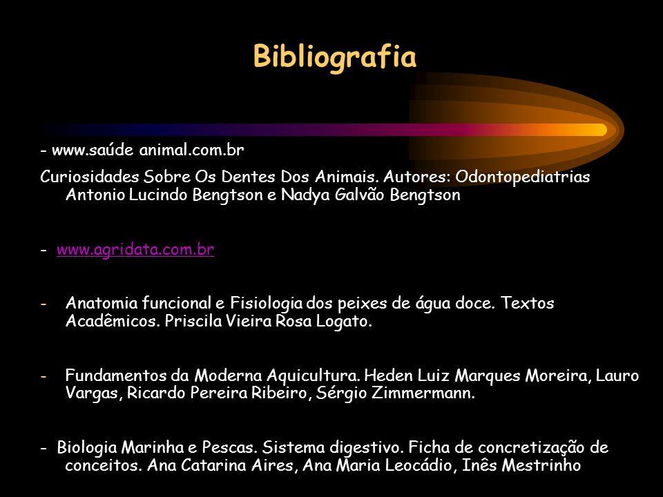 Bibliografia - www.saúde animal.com.br