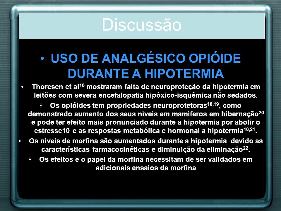 USO DE ANALGÉSICO OPIÓIDE DURANTE A HIPOTERMIA