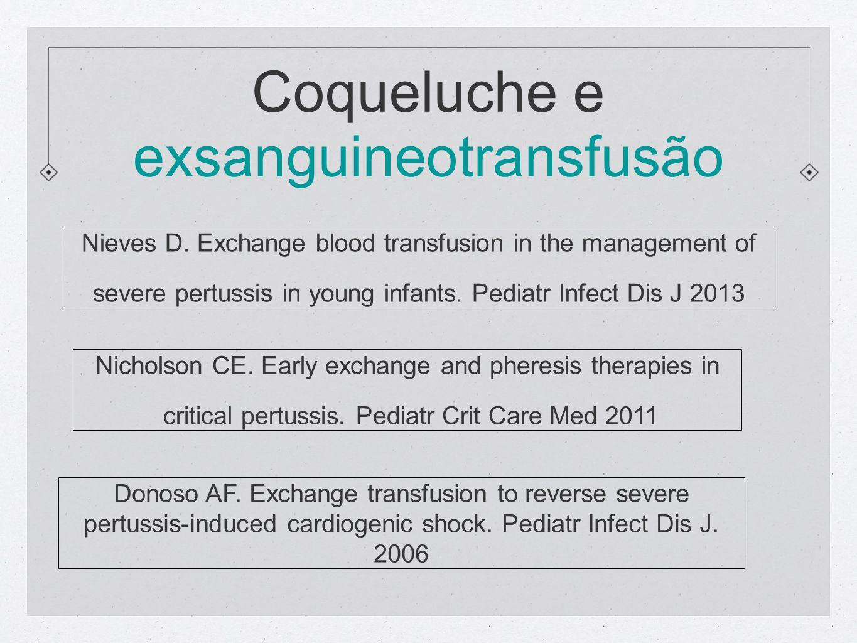 Coqueluche e exsanguineotransfusão