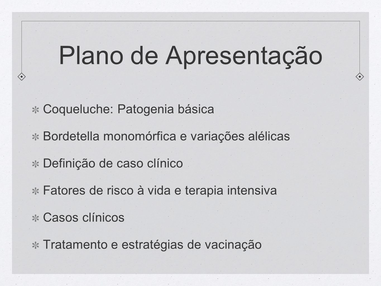 Plano de Apresentação Coqueluche: Patogenia básica