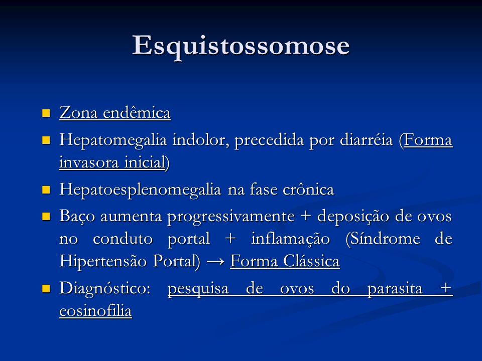 Esquistossomose Zona endêmica