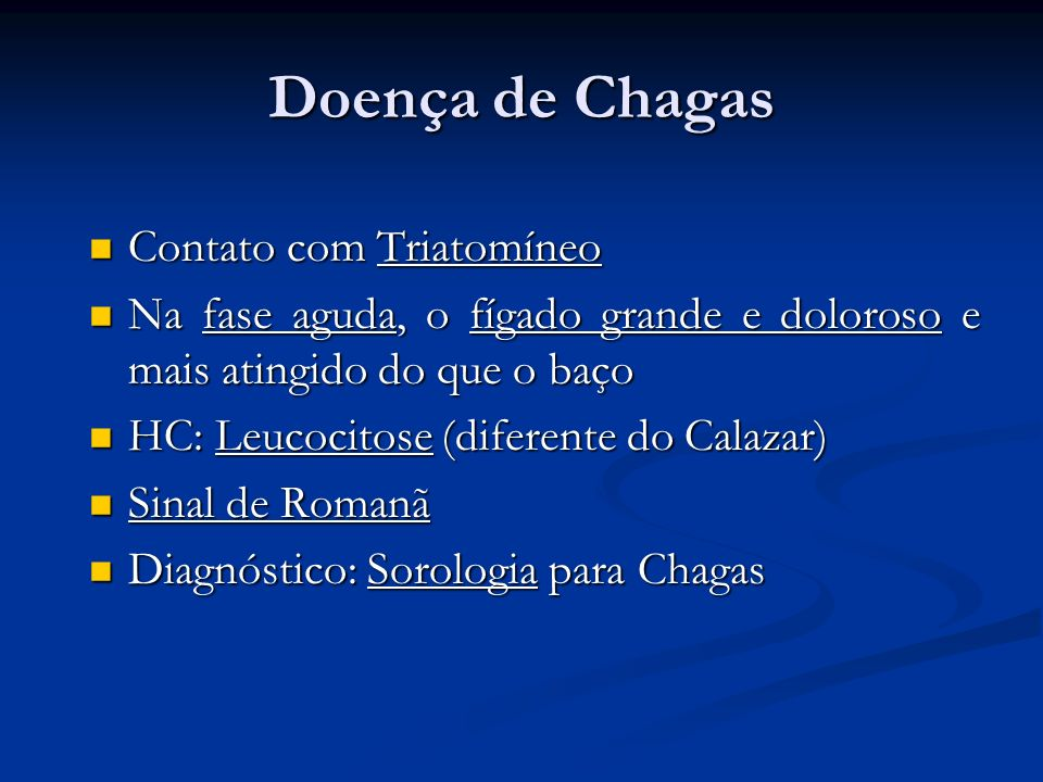 Doença de Chagas Contato com Triatomíneo