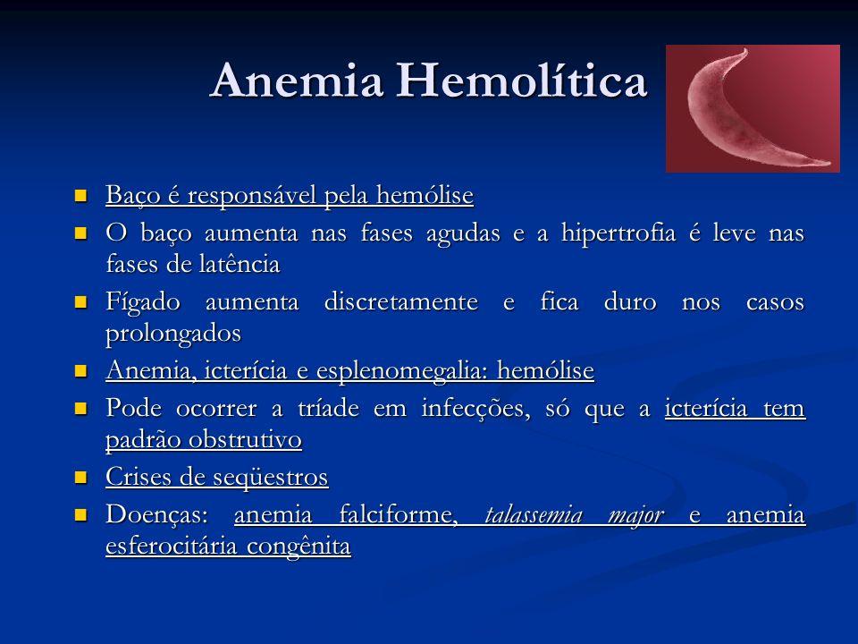 Anemia Hemolítica Baço é responsável pela hemólise