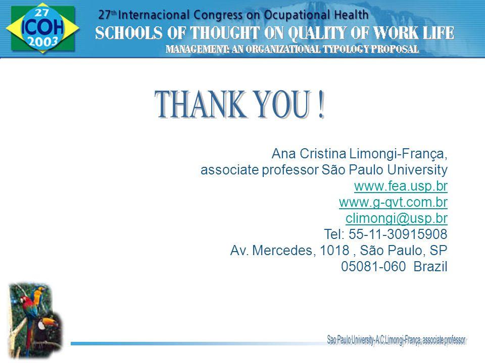 THANK YOU ! Ana Cristina Limongi-França,