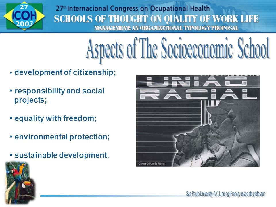 Aspects of The Socioeconomic School