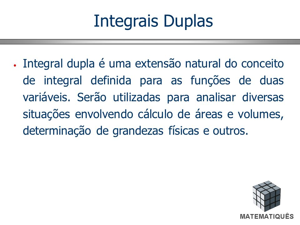 Integrais Duplas