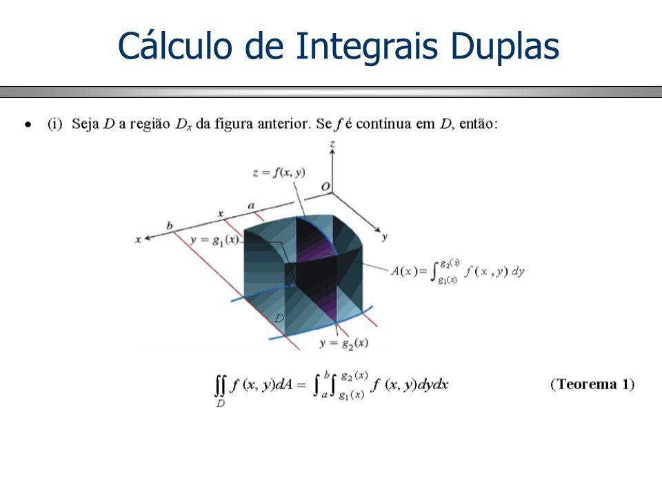 Cálculo de Integrais Duplas