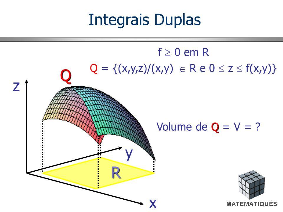 Q = {(x,y,z)/(x,y)  R e 0  z  f(x,y)}