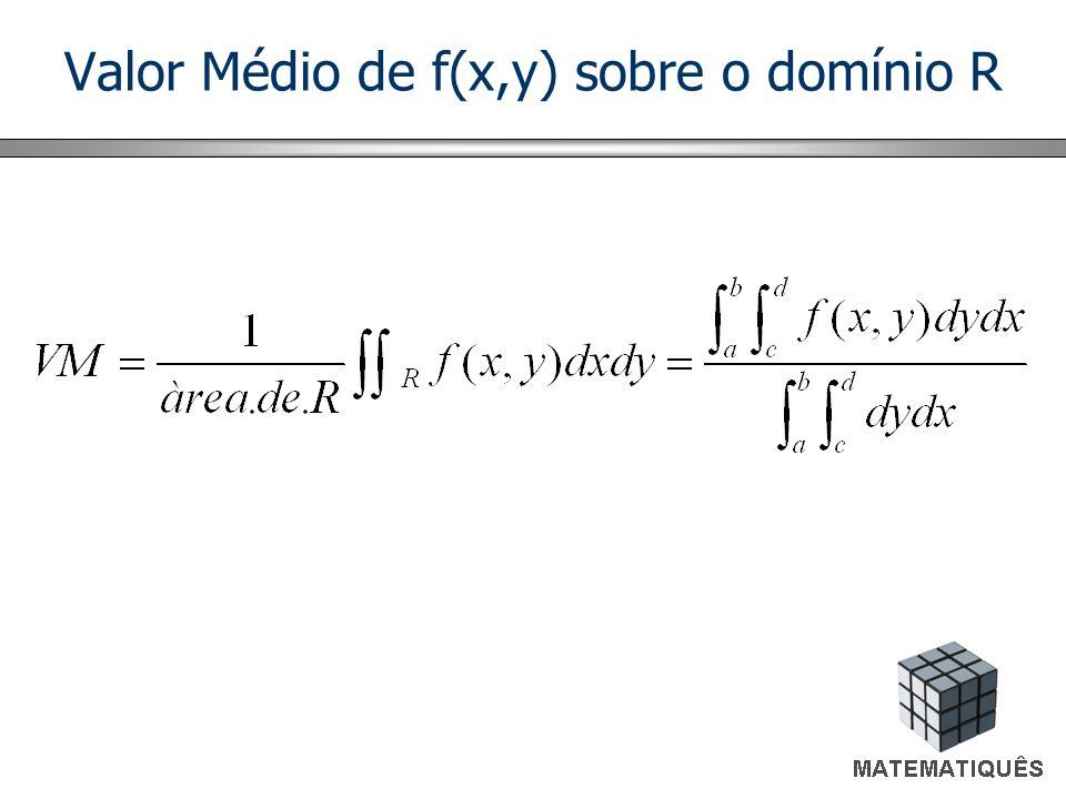 Valor Médio de f(x,y) sobre o domínio R