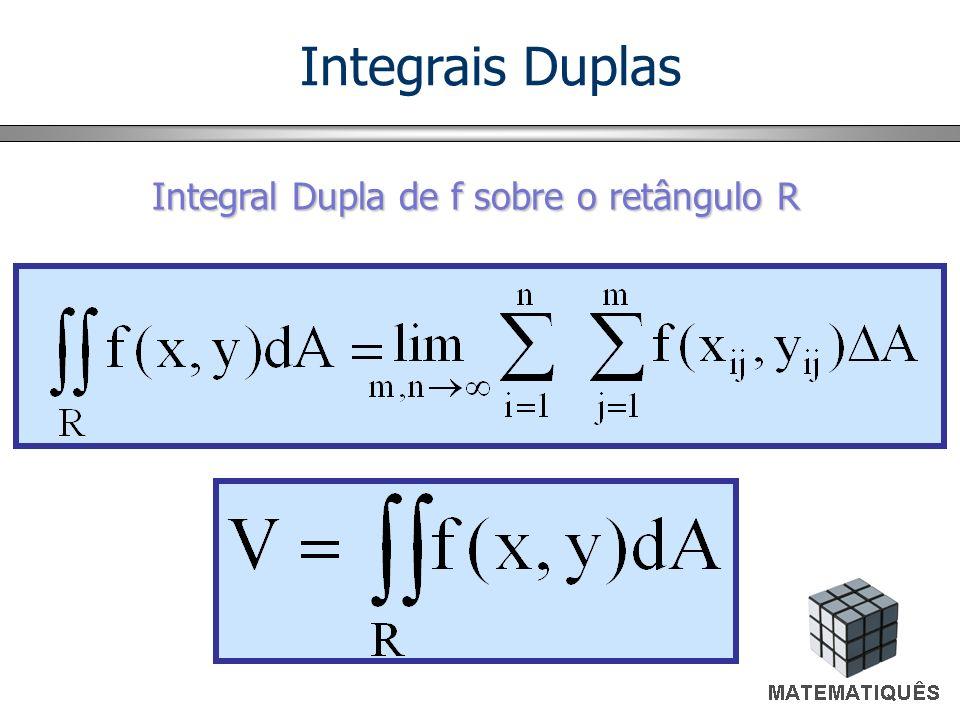 Integral Dupla de f sobre o retângulo R